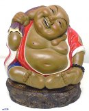 Chinese Ceramic Porcelain Figurine Statue Happy Buddha Longevity & Prosperous